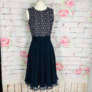 French Connection Dresses - French connection silk beaded eyelet dress